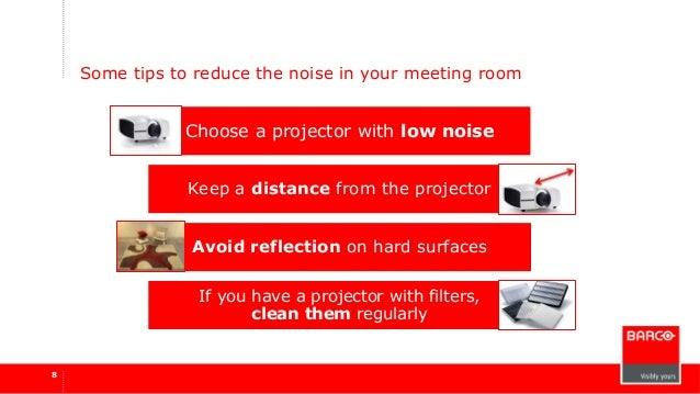 Projector noise - Barco Webinar 16 04-2015