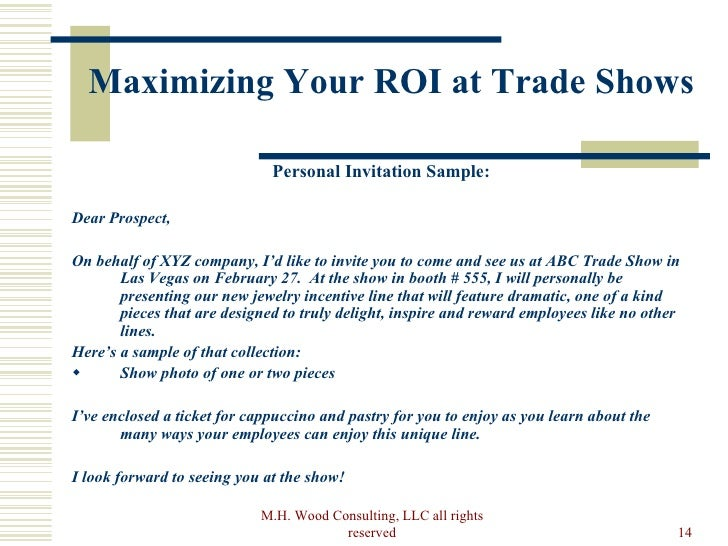 How to maximize your trade show roi pre show rights reserved 14 maximizing your roi at trade shows stopboris Images