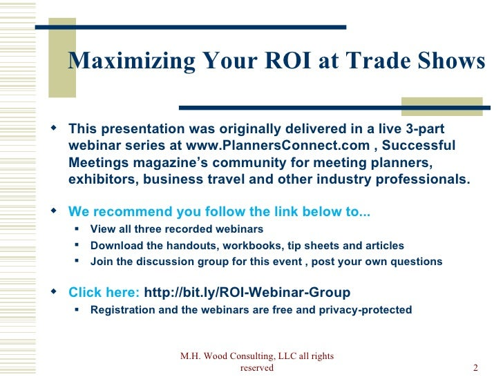 How to maximize your trade show roi pre show stopboris Image collections