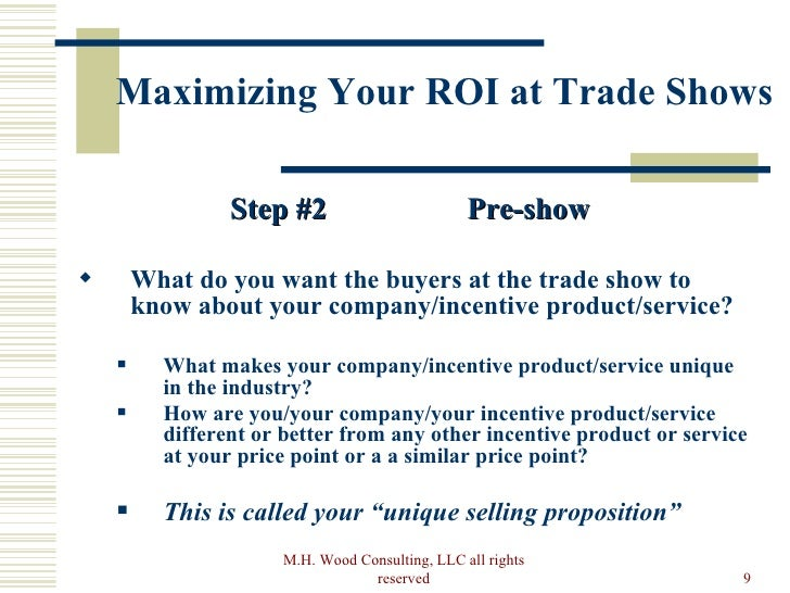 How to maximize your trade show roi pre show rights reserved 9 maximizing your roi at trade shows spiritdancerdesigns Choice Image