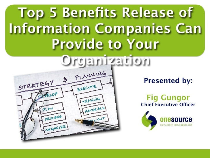 Top 5 Benefits Release of Information Companies Can ...
