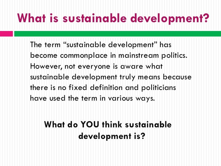 what is sustainable development definition