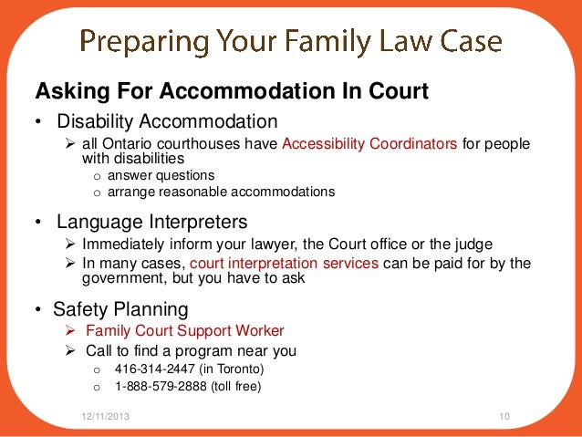 Family law questions ontario