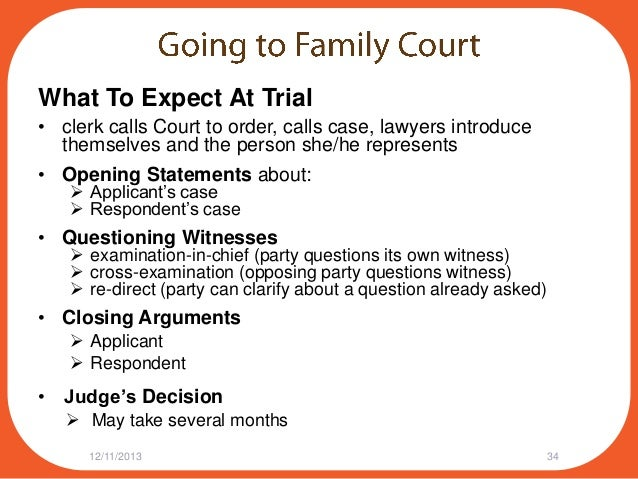 Writing A Witness Statement For Family Court