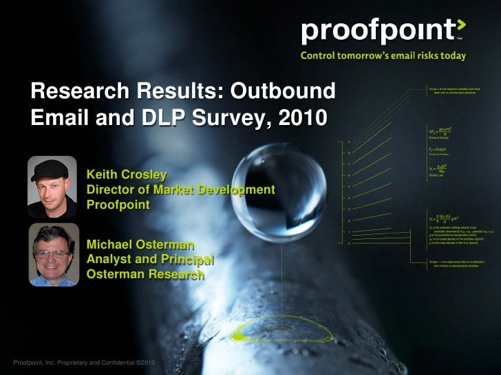 Research Results: Outbound       Email and DLP Survey, 2010                            Keith Crosley                      ...