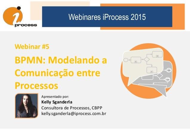 Apresentado por: Kelly Sganderla Consultora de Processos, CBPP kelly.sganderla@iprocess.com.br Webinares iProcess 2015 Web...