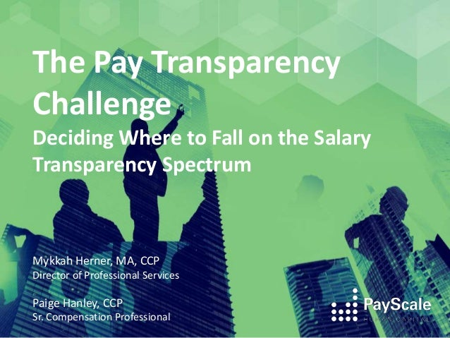 The Pay Transparency Challenge Deciding Where to Fall on the Salary Transparency Spectrum Mykkah Herner, MA, CCP Director ...