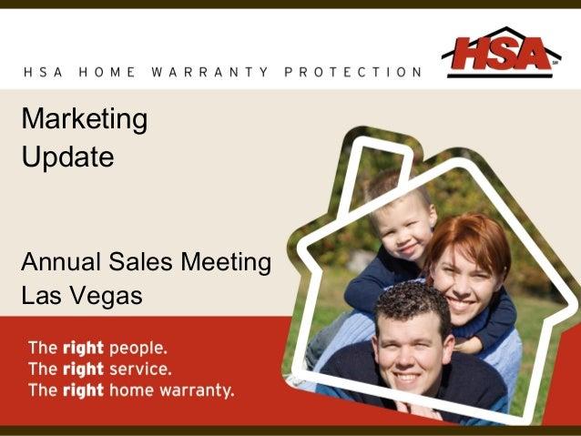 Marketing Update Annual Sales Meeting Las Vegas