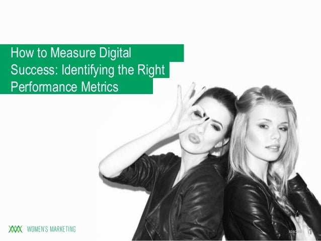 How to Measure Digital Success: Identifying the Right Performance Metrics 4/29/2015 1