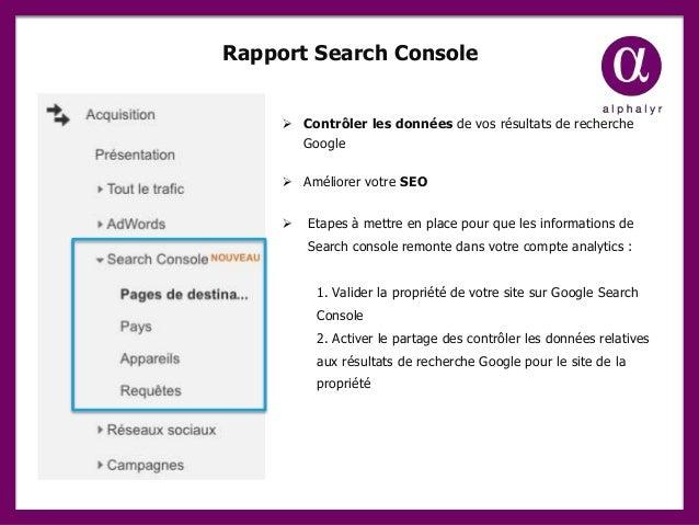 Rapport Search Console  Contrôler les données de vos résultats de recherche Google  Améliorer votre SEO  Etapes à mettr...