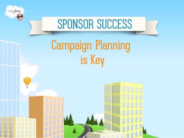 Sponsor Success Webinar #3: Campaign Planning is Key