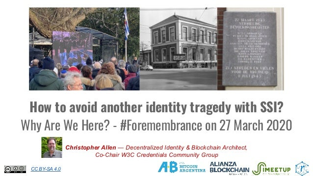 How to avoid another identity tragedy with SSI? Why Are We Here? - #Foremembrance on 27 March 2020 Christopher Allen — Dec...