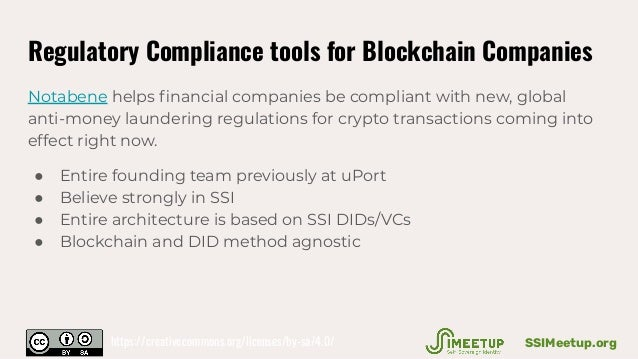 Regulatory Compliance tools for Blockchain Companies Notabene helps financial companies be compliant with new, global anti-...
