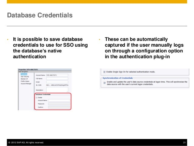 SAP #BOBJ #BI 4 1 Upgrade Webcast Series 6: User Authentication and S…
