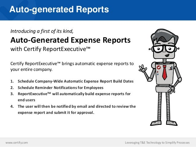 Leveraging New Technology To Simplify Expense Report Management For E…