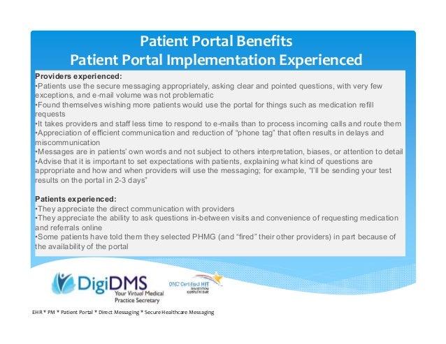 Webinar 8 Patient Engagement using Patient Portal ...