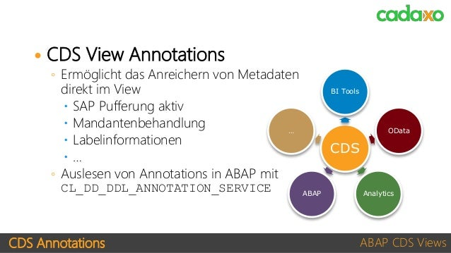 Sap Cds Annotations List