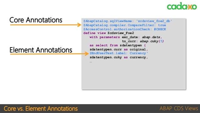 Abapcatalog Annotations