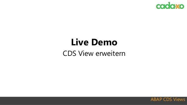 Webinar - ABAP CDS Views