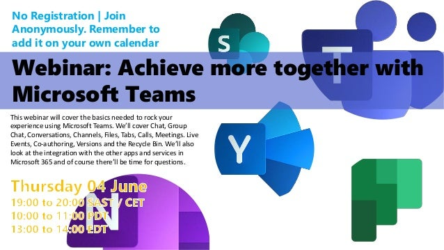 Webinar: Achieve more together with Microsoft Teams Slide 2