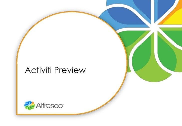 Activiti Preview