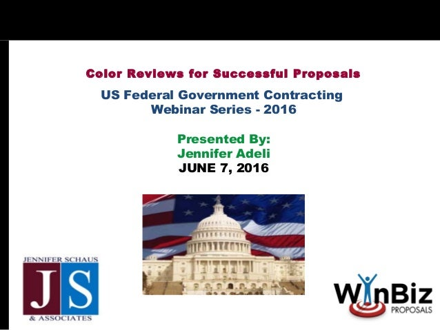 FED GOV CON - Color Reviews For Successful Proposals
