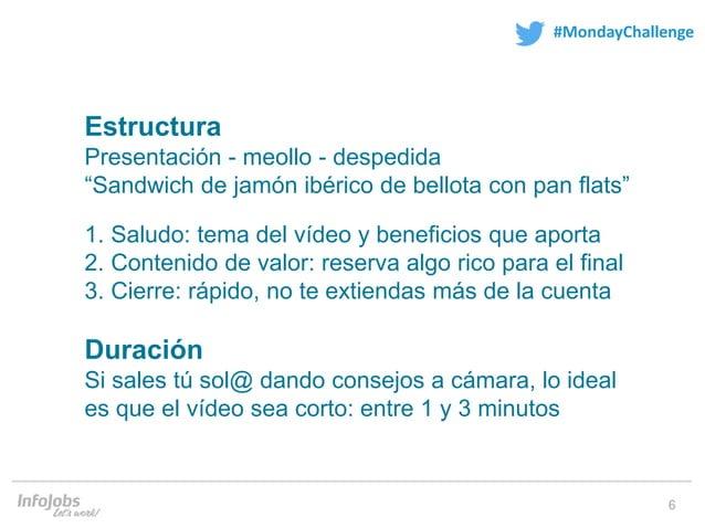 """6 #MondayChallenge Estructura Presentación - meollo - despedida """"Sandwich de jamón ibérico de bellota con pan flats"""" 1. Sa..."""