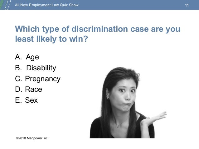 how to win an eeoc case all new employment quiz show 14317