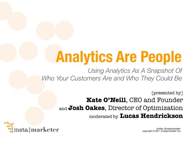 "Webinar: ""Analytics are People"""