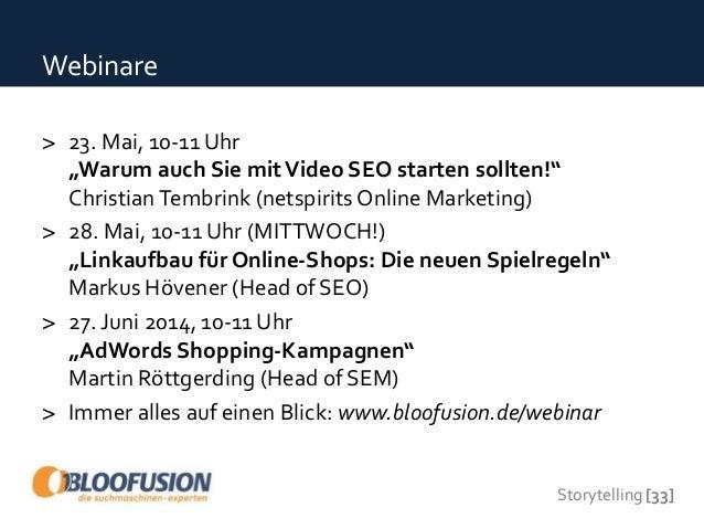 Storytelling - Bloofusion Webinar