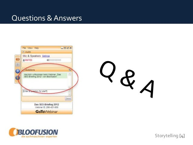 Storytelling [4] Questions & Answers
