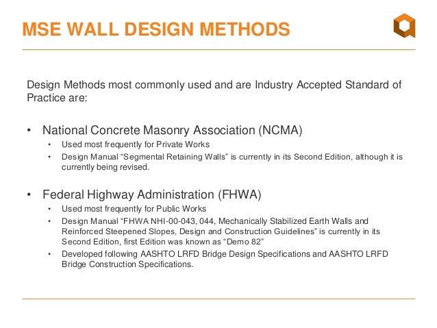 MSE Walls Geosynthetics Design Basics Webinar April 2016