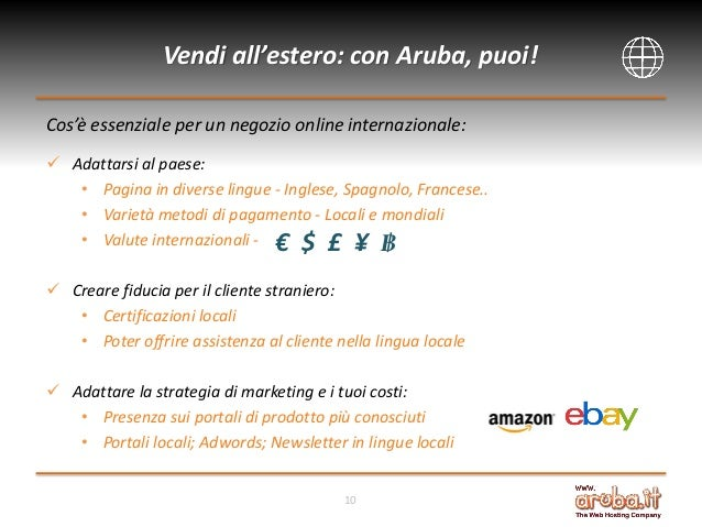 vendi all estero con amazon