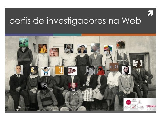   perfis de investigadores na Web