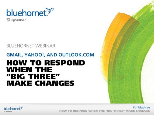 """On Demand Webinar: How to Respond When the """"Big Three"""" Make Changes"""