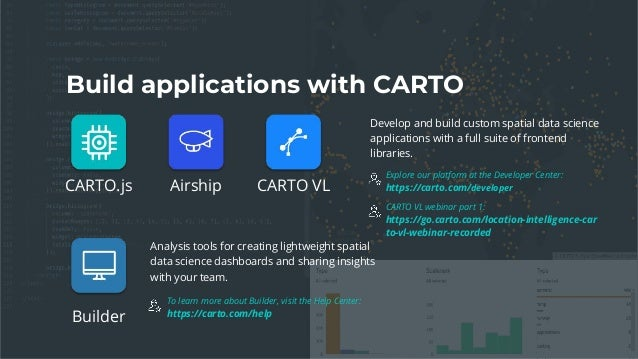 Discover the Power of CARTO VL for Visual and Interactive Analysis [C…
