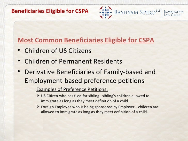 Webinar Child Status Protection Act And Aging Out