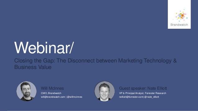 1 #brandwatchtips © 2015 Brandwatch.com Webinar/ Closing the Gap: The Disconnect between Marketing Technology & Business V...