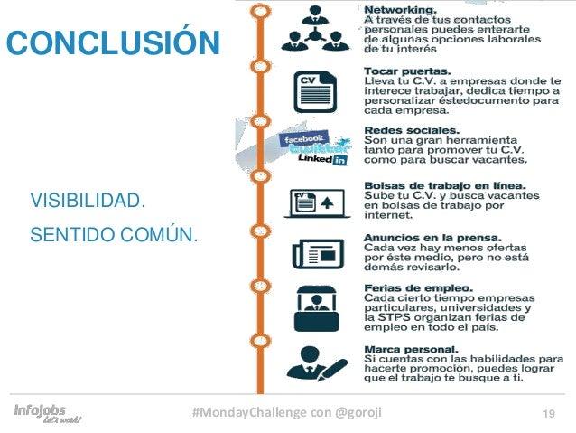 19 VISIBILIDAD. SENTIDO COMÚN. CONCLUSIÓN #MondayChallenge con @goroji