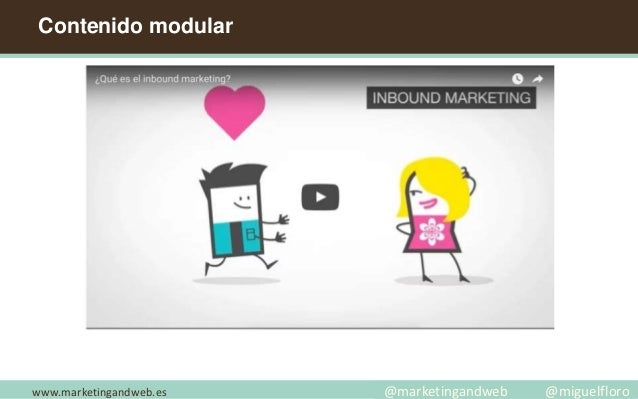 Contenido modular www.marketingandweb.es @marketingandweb @miguelfloro