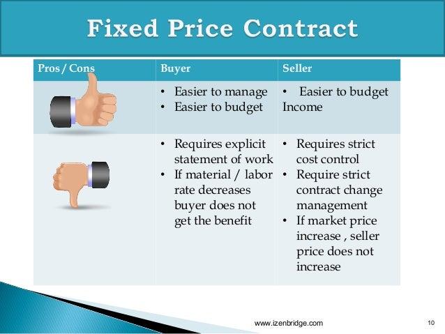 Procurement contract types pmp izenbridge webinar for Fixed price construction contract