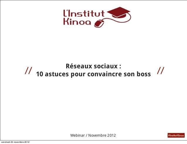 Réseaux sociaux :                    //                                     //                       10 astuces pour conva...
