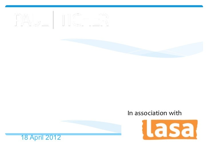 Data Protection webinar:The new cookie law                    In association with18 April 2012