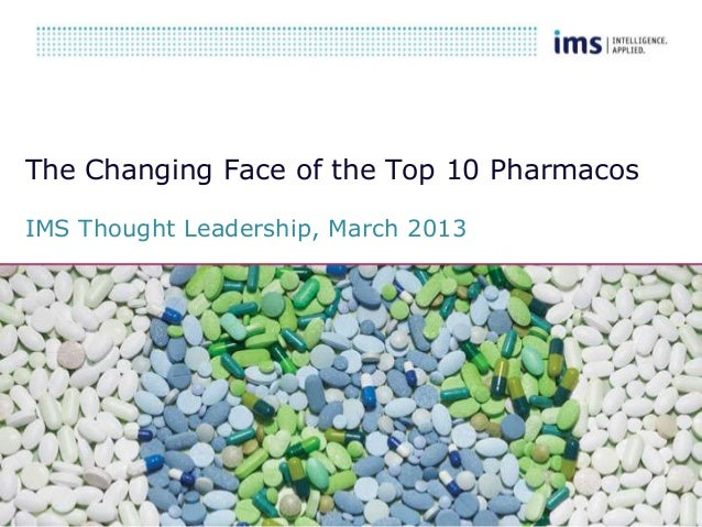 The Changing Face of the Top 10 Pharmacos IMS Thought Leadership, March 2013