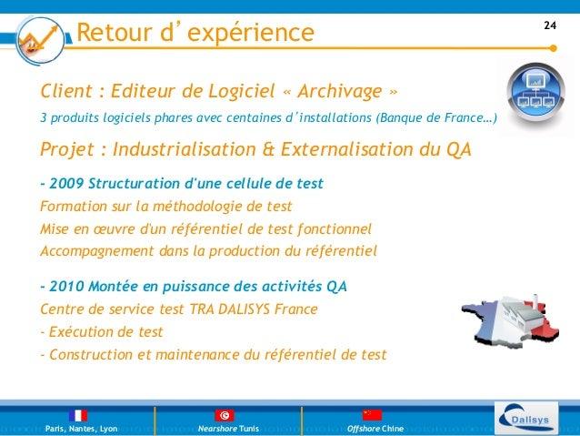 Retour d'expérience                                                      24Client : Editeur de Logiciel «Archivage »3 pro...