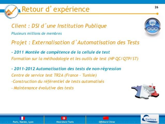 Retour d'expérience                                          26Client : DSI d'une Institution PubliquePlusieurs millions d...