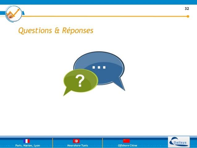 32  Questions & RéponsesParis, Nantes, Lyon   Nearshore Tunis   Offshore Chine                                          32