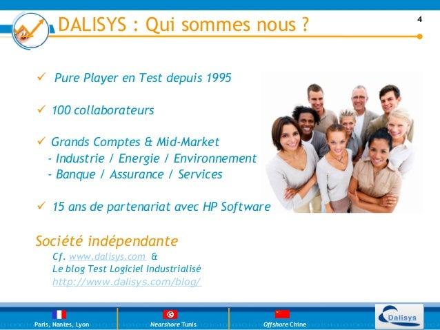 DALISYS : Qui sommes nous ?                             4ü PurePlayer en Test depuis 1995ü 100 collaborateursü Gran...