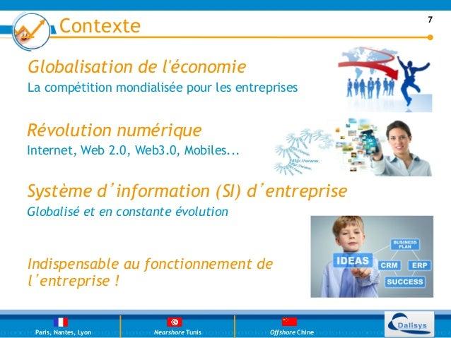 Contexte                                          7Globalisation de léconomieLa compétition mondialisée pour les entrepris...