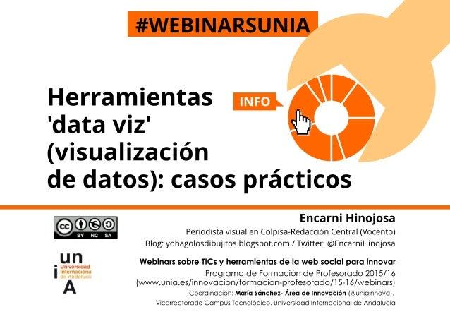 #webinarsUNIA Herramientas 'data viz' (visualización de datos): casos prácticos 225 Encarni Hinojosa Periodista visual, Co...